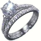 1.82CTW ROUND BRILLIANT STONES ENGAGEMENT RING SETS (2 RINGS) size 5,6,9,10