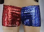 Harley Quinn Suicide Squad Shorts margot panties Halloween Costume robbie Sequin