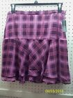 METAPHOR MISSY PLAID TIERED / LAYERED LINED FLOUNCY CUTE SKIRT FREE SHPG NWTA