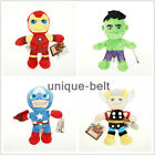 Superhero Stuffed Plush Doll Toy The Avengers Iron Man Hulk Thor Captain America