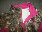 Realtree Mossy Oak NEW Long Sleeve 1/4 Zip CAMO Ladies Jacket Shirt