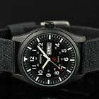 INFANTRY Mens Sport Army Quartz Black Dial Wrist Watch Nylon Date Day Waterproof