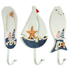 Wooden Nautical Coat Hat Clothes Towel Wall Hooks Hangers Hanging Decoration