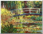 Claude Monet Stretched Water Lilies Pink Harmony Painting Repro Canvas Art Print