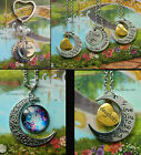 I LOVE YOU TO THE MOON AND BACK NECKLACE PENDANT OR KEYRING DAUGHTER SON GIFT