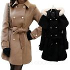NEW Womens Winter Ladies Poncho Hooded Jacket Trench Coat Size XS-L UK sz 6-14