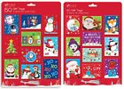 50 Christmas Gift Tags Cards Tie On Labels Assorted Designs Metallic Thread Xmas