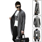 Men Stylish Draping Long Sleeve Cardigan Open Front Casual Coat Top