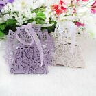 50 Pack Laser Cut Butterfly Wedding Favor Box With Organza Ribbon Birthday Party