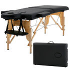 "2"" Pad 84"" Black Portable Massage Table w Free Carry Case Chair Bed Spa Facial T"