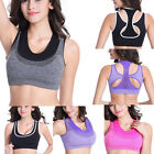 Women High Impact Wire Free Non Padded Racerback Maximum Sports Yoga Workout Bra
