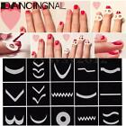 15 Style French Manicure Nail Art Tips Form Guide Sticker Polish DIY Stencil Set