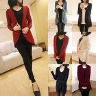 Chic Women Casual Loose Knitted Sweater Tops Cardigan Outerwear Coat Jacket