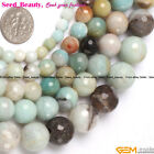 "Multi-color Round Faceted Amazonite Gemstone JewelryMaking Loose Beads 15""SD9006"