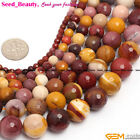 """Round Faceted Mookaite Jasper Gemstone Jewelry Making Loose Beads 15"""" SD6929-V"""