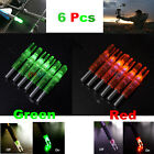 6Pcs Green/Red Lighted Nock Compound Bow LDE Lighted Arrow Nock For Hunting