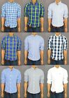 NWT HOLLISTER HCO MENS Seagull Checker/Plaid/Striped Muscle Fit Casual Shirt