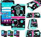 Bubbles Turquoise Hybrid Dual Impact Shock Hard Soft Cover Case for Cell Phones