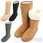 Ladies / Womens Long Outdoor Faux Suede Boot / Boots with Roll Up / Down Design
