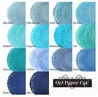 "Navy Turquoise Teal BLUE PAPER Lace DOILIES || 4"" 6"" 8"" 10"" 12"" 