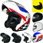 LEOPARD Matt Black Flip Up/Front Motorcycle Motorbike Helmet Full Face Modular