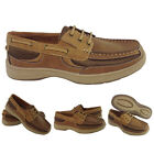 Mens Casual Shoes Moccasin Boat Deck Trainers Smart Lace Up Holiday Designer NEW
