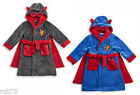 Boys Infants Super Hero Robe, Superhero Nightwear Hooded Dressing Gown With Cape