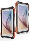 Shockproof Aluminum Gorilla Glass Metal Cover Case For iPhone&Samsung-Black/Red