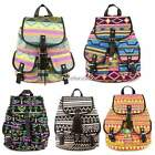Women Lady Floral School Bag Backpack Canvas Bookbag Rucksack Satchel Travel Bag