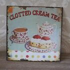 Metal clotted cream tea kitchen wall plaque cafe shop gift home accessory