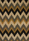 Black Contemporary Chevrons ZigZags Waves Area Rug United Weavers 550-36770