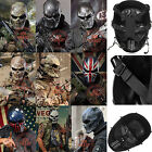 Sports Airsoft Metal Mesh Full Face Protection Mask Cosplay War Game Skulls