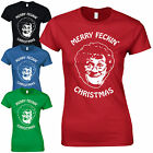 Merry Feckin' Christmas Ladies Fitted T-Shirt - Mrs Brown's Boys Funny Xmas Top