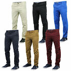Mens Chino Jeans Stallion Bottoms Slim Fit Trousers Pants Casual Designer New