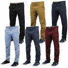 Mens Chino Jeans Stallion Bottoms Trousers Pants Slim Fit Casual Designer New