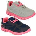 Girls Trainers Kids Shoes Lace Up Mesh Running Jogging Children Casual Sports
