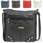 Ladies / Womens Faux Leather Cross Body Bag / Shoulder Bag with Stud Design