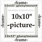 White Wooden Photo Picture Frame with White Mount - Choose size