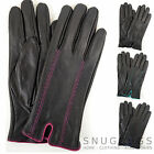 Ladies / Womens Soft Leather Gloves with Attractive Stitch Design