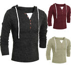 Fashion Mens Slim Fit V-neck Knitwear Pullover Hoodies Sweater Jacket Coat Tops