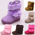 New Infant Toddler Girls Winter Cute Casual Faux Fur Suede Zipper Boots Shoes