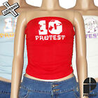PROTEST 'SILLICON' BOOB TUBE STRAPLESS TOP RED BLUE WHITE 8 10 12 14 NEW RRP £18