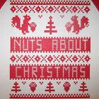 nuts about christmas t shirt ugly holiday xmas squirrel sweater tee funny mens