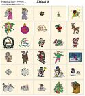 XMAS 3. CD machine embroidery designs files most formats Christmas holidays