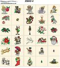 XMAS 4. CD machine embroidery designs files most formats Christmas holidays