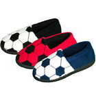 Boys 4 Kidz Warm Football Moccasin House Lounge Slippers In 3 Colours