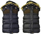 Womens Ladies Sleeveless Hooded Quilted Gilet Vest Bodywarmers Coat Jacket