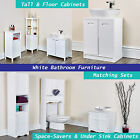 Bathroom Furniture Cupboards Space-savers Storage White Cabinet Undersink Rack