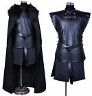 NEW Halloween Game of Thrones Jon Snow Costume Cosplay Outfit Full Set Cape GHFY