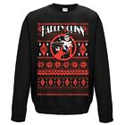Official Harley Quinn Fair Isle Black Christmas Jumper Sweatshirt - DC Comics